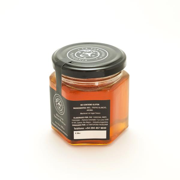 Miel con trufa blanca 240gr lateral