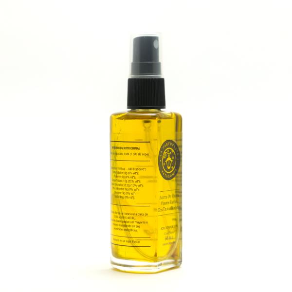 Aceite de oliva con trufas blancas 60ml lateral